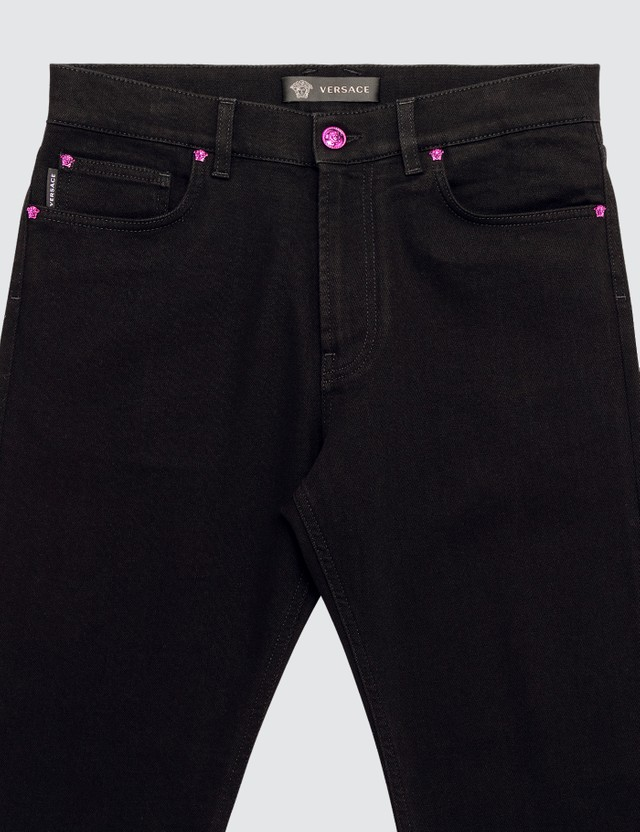 Versace Medusa Rivet Slim Fit Jeans