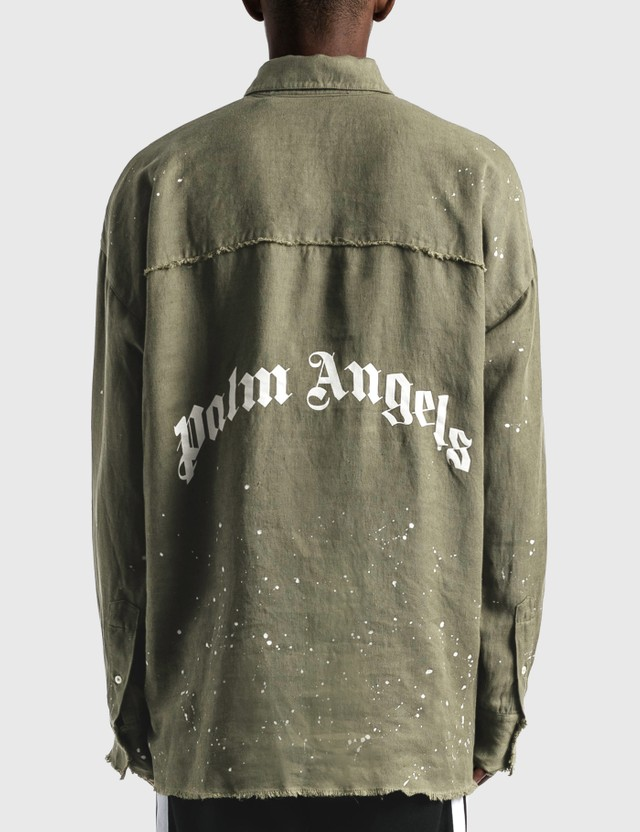 Palm Angels Organic Overshirt Green Men
