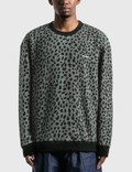 Wacko Maria Leopard Fleece Crew Neck Sweat Shirt Picture