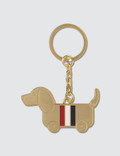 Thom Browne Hector Toy Icon Keyring W/ RWB Enamel Stripe In Brass Picture