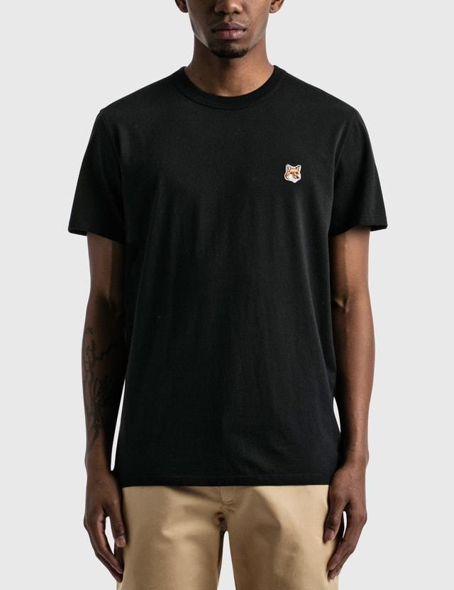Maison Kitsune Fox Head Patch Classic T-shirt Black Men