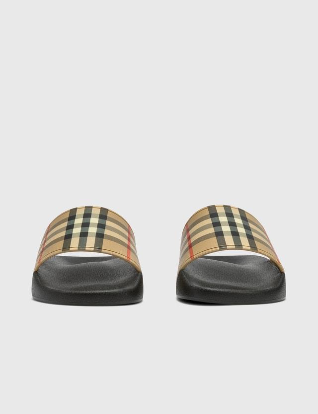 Burberry Vintage Check Slides Archive Beige Men