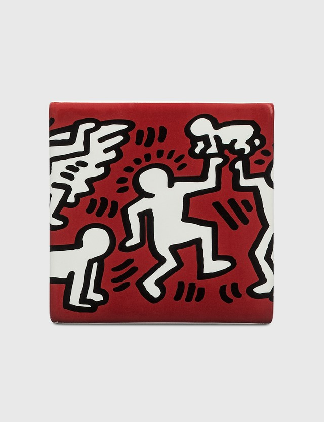 Ligne Blanche Keith Haring Limoges Square Candle Red Unisex