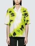 Prada Tie Dye Print Shirt in Lime