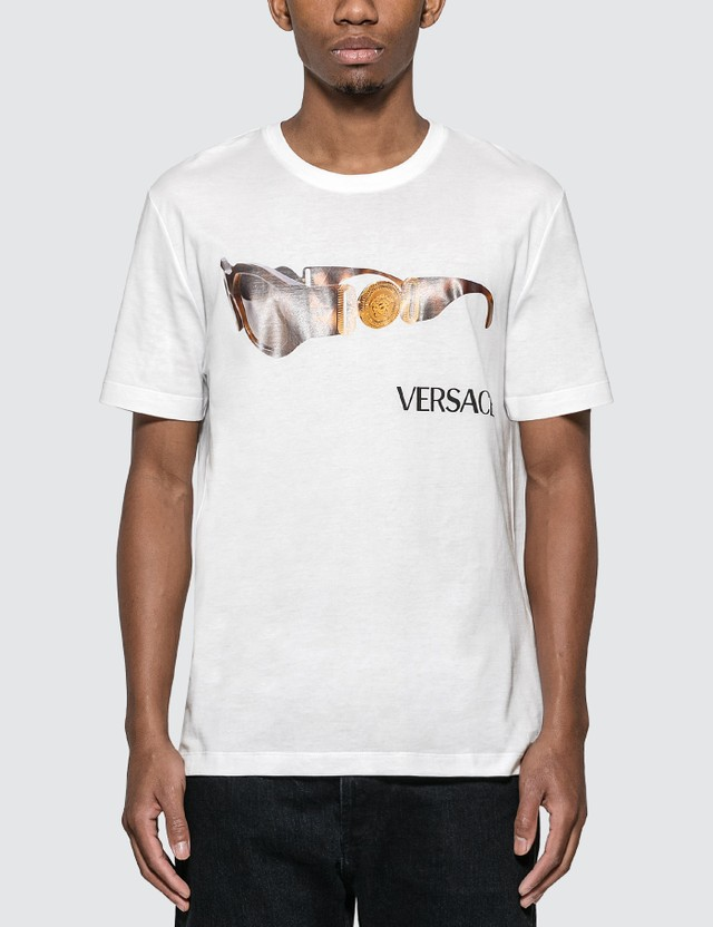 Versace Sunglasses T-shirt Bianco Ottico Men