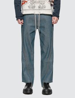 Lanvin Asymmetrical Cropped Jeans