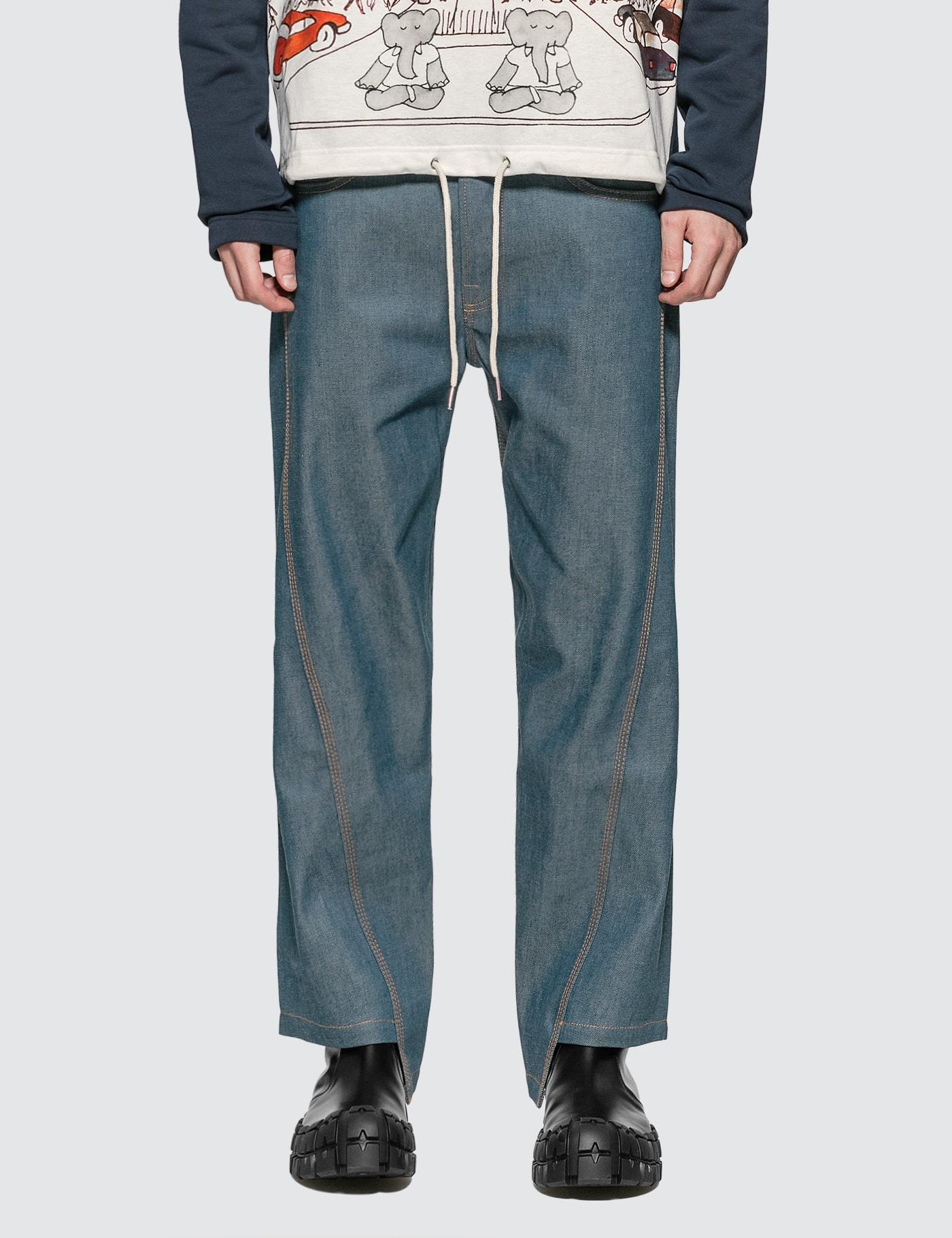 Asymmetrical Cropped Jeans