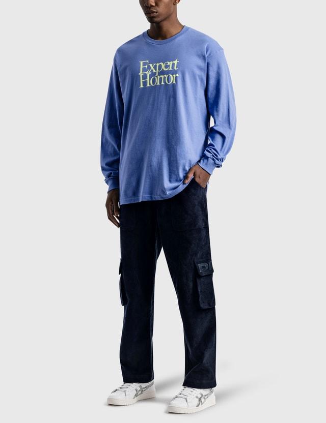Expert Horror HBX exclusive Core Pool Drop Long Sleeve T-Shirt Flow Blue Men