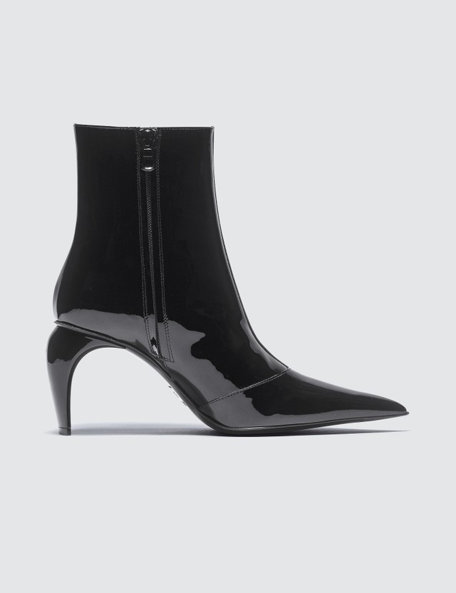 Misbhv Slicer Ankle Boots Vinyl Black