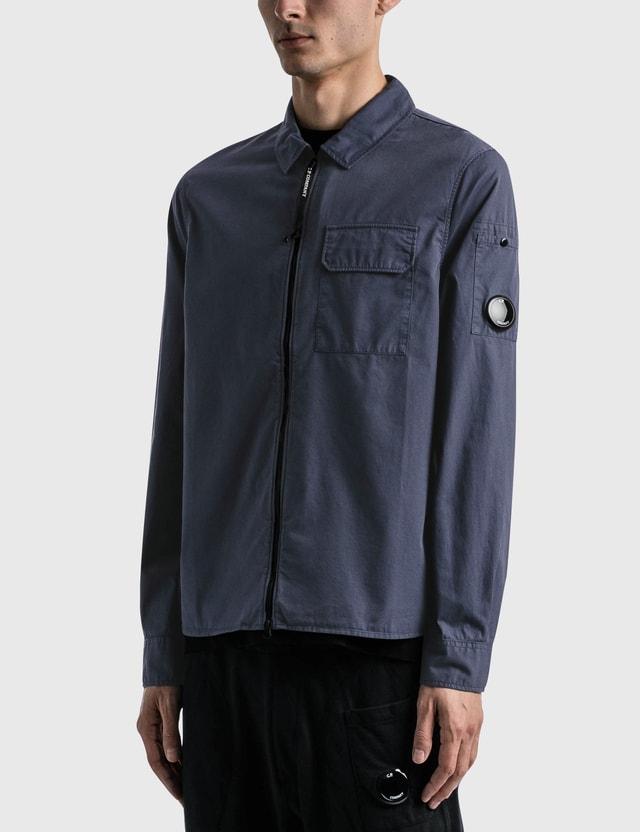 CP Company Gabardine Garment Dyed Utility Shirt Greystone Men