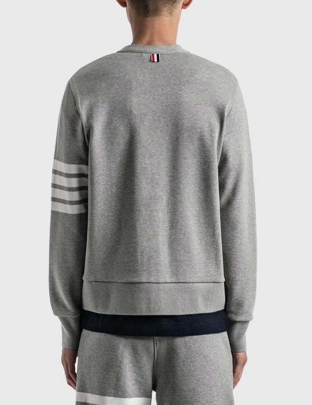 Thom Browne V Neck Cardigan Light Grey Men