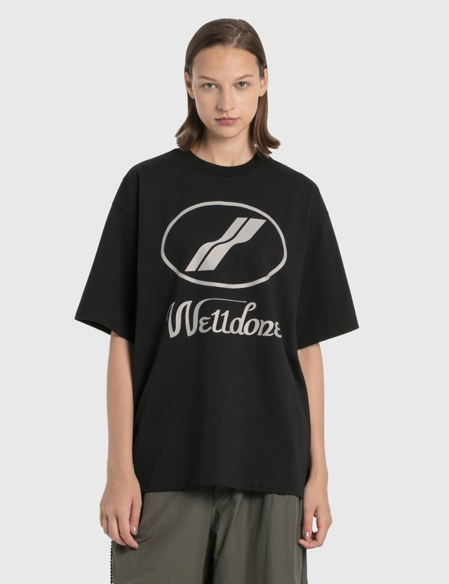 We11done We11done Reflective Logo T-Shirt Black Women