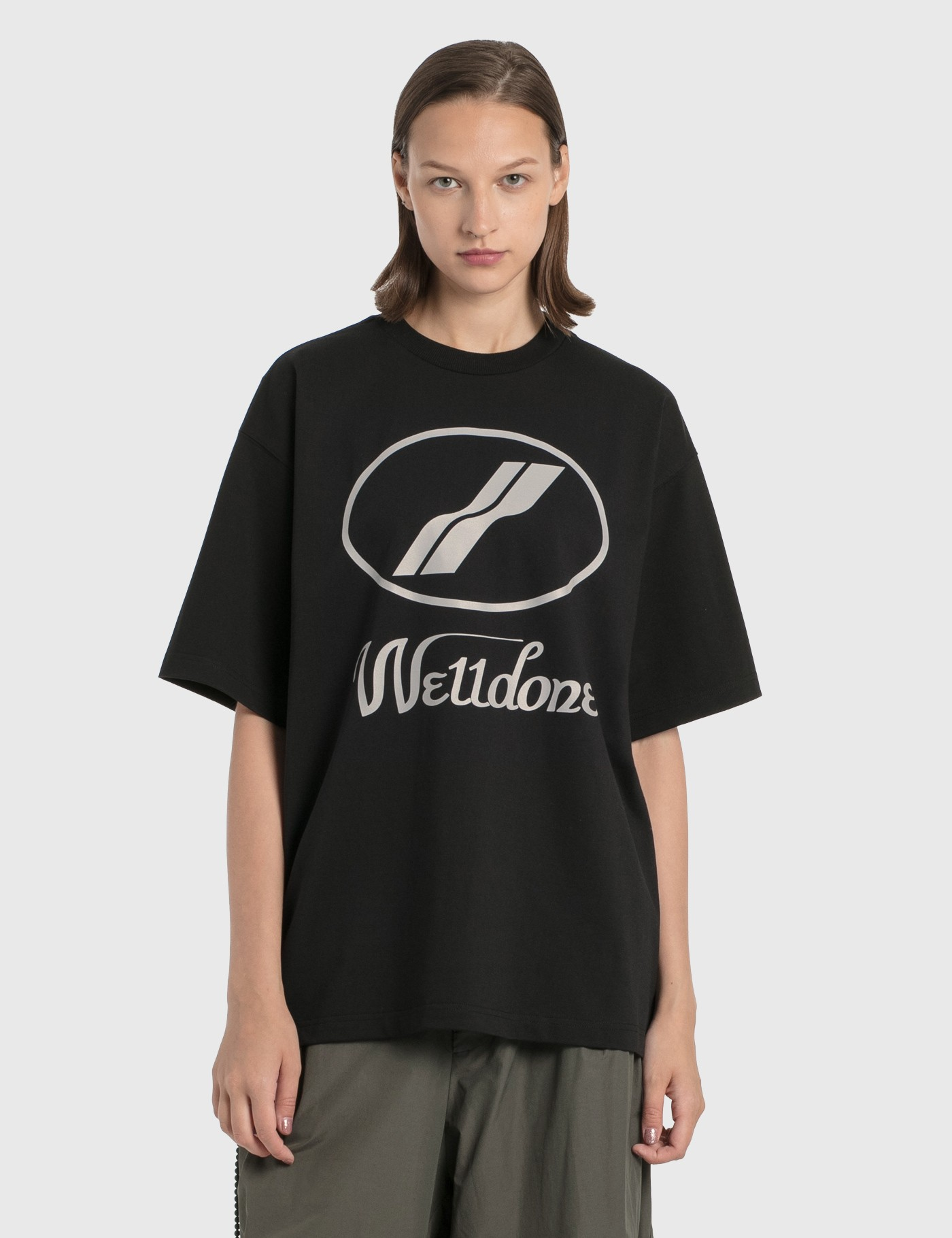 We11 Done REFLECTIVE LOGO T-SHIRT