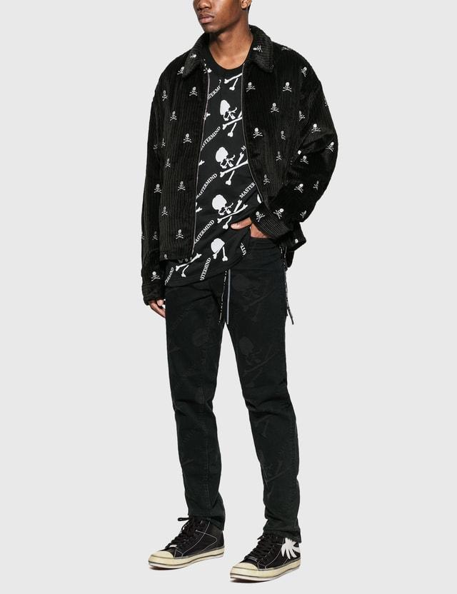 Mastermind World Corduroy Zip Up Jacket Black Men
