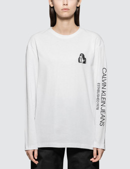 CALVIN KLEIN JEANS EST.1978 Modernist Logo Long Sleeve T-shirt