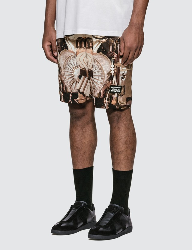 Burberry Submarine Print Mesh Shorts