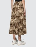 Ganni Printed Mid Length Skirt