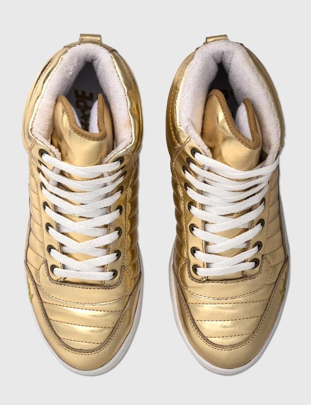 BAPE Bape Gold Sneakers Gold Archives