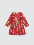 Mini Rodini Spaniels Woven Ruffled Dress Picture