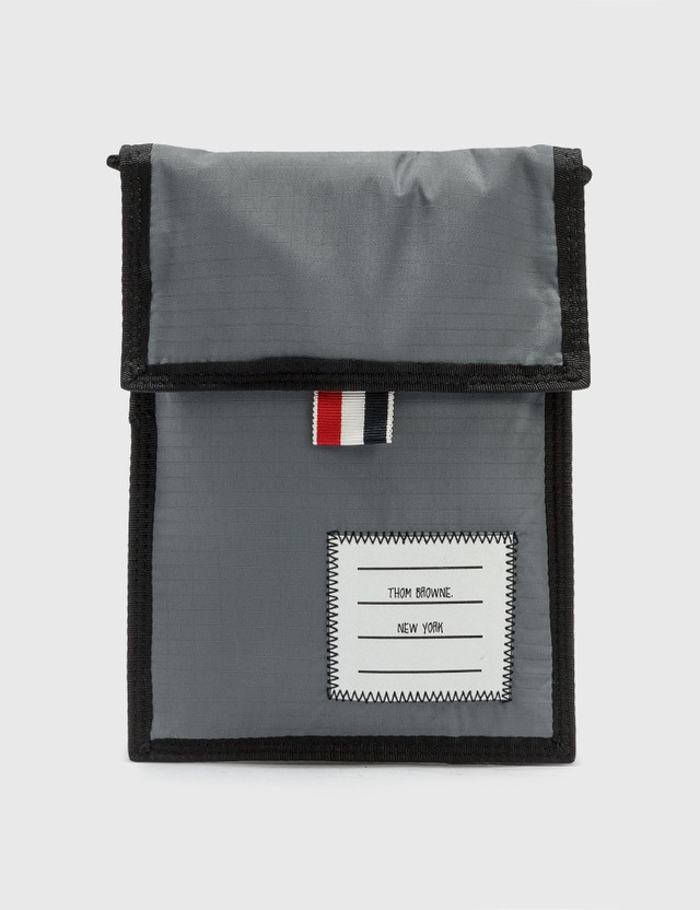 Thom Browne Velcro Drawcord Neck Pouch