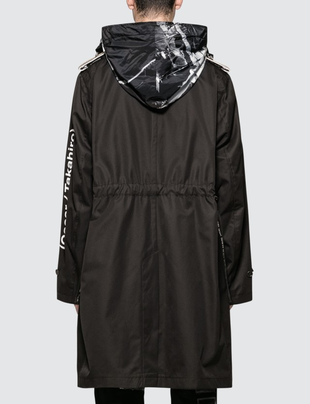 Takahiromiyashita Thesoloist Wrapped Collar Rain Coat Black Men