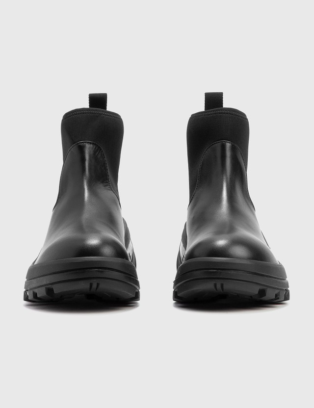 1017 ALYX 9SM Leather Mid Boot With Platform Sole Black Women