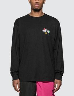 Stussy Dot Collage Long Sleeve T-Shirt