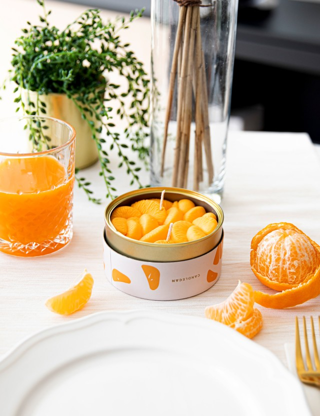 Candle Hand Peeled Tangerines Candle Can