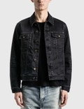 Saint Laurent Lightly Coated Denim Jacket Picture