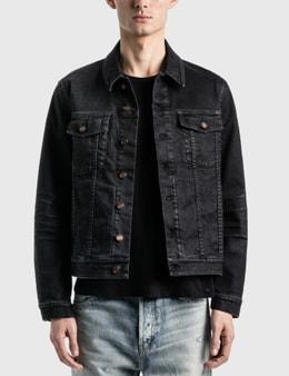 Saint Laurent Lightly Coated Denim Jacket