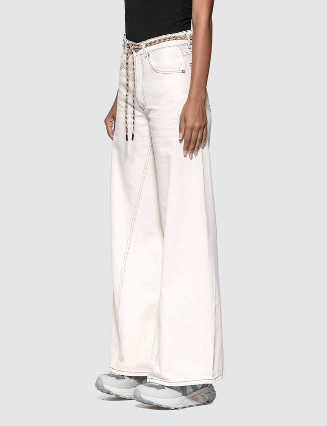 Ganni Washed Wide Leg Jeans