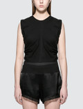 Alexander Wang.T High Twist Jersey Crop Top With Wide Ties Picture