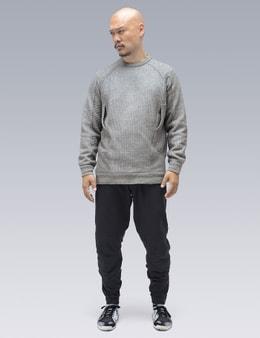 ACRONYM C1-AM Cashllama Silk Mesh Crewneck Sweatshirt