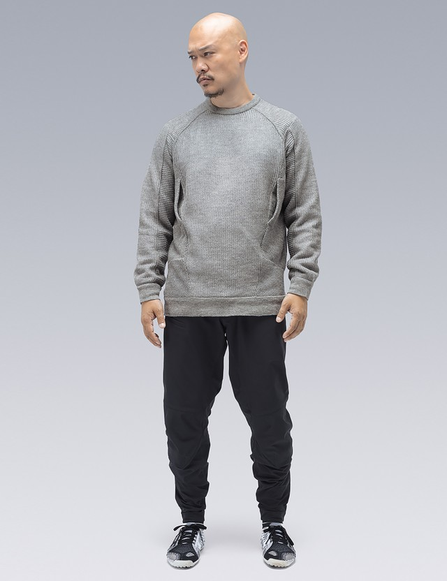ACRONYM C1-AM Cashllama Silk Mesh Crewneck Sweatshirt =e26 Men