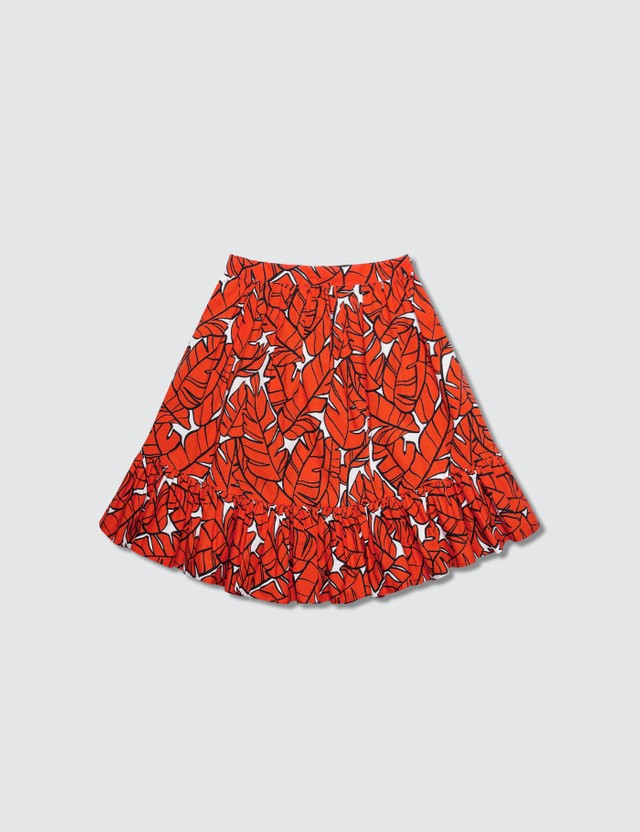 MSGM Leaf Printed Skirt