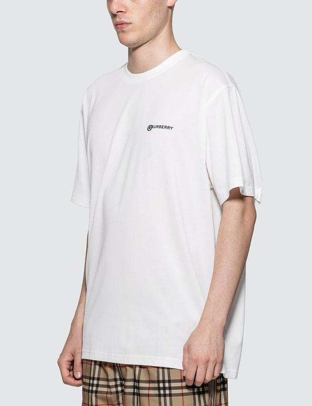 Burberry Location Print Cotton Oversized T-shirt