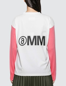 MM6 Maison Margiela Logo Sweatshrit With Knit Sleeve