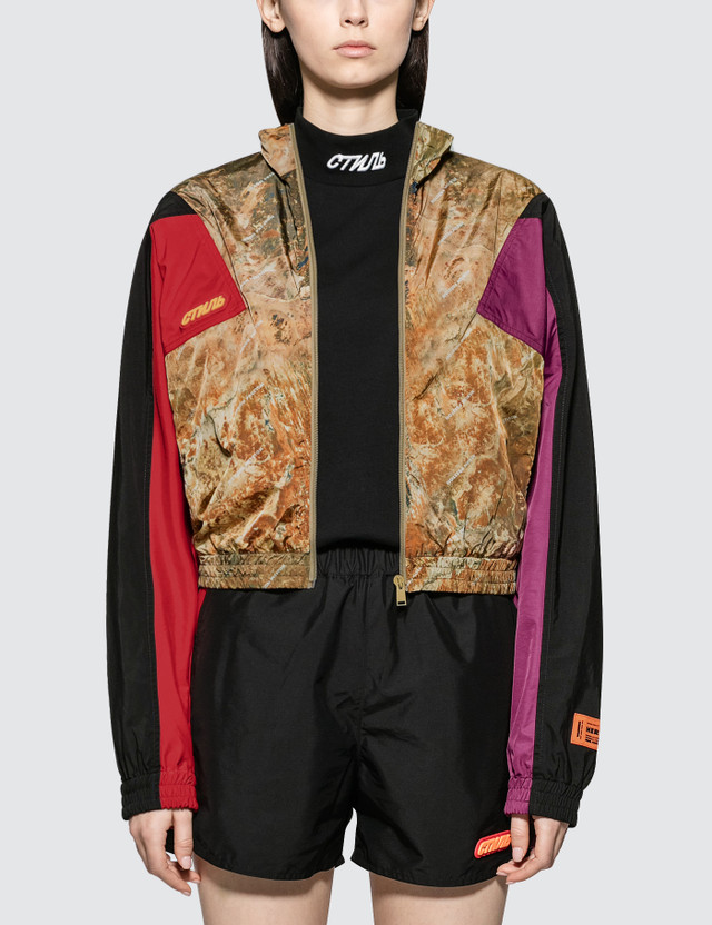Heron Preston Camo Turtleneck Zip Jacket Multicolor Women