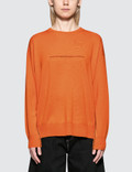 MM6 Maison Margiela Seam Detail Wool Knit Top Picutre