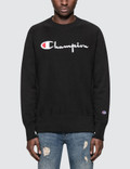 Champion Reverse Weave Script Logo Sweatshirt Picture