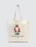 Maison Kitsune Tote Bag Fox Pixel Picutre