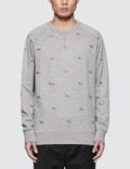 Maison Kitsune Tricolor Fox Embroidery All-Over Sweatshirt Picture