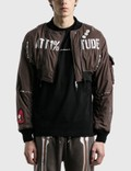 99%IS- Short Ma-tt1%tude Bomber Jacket Picture