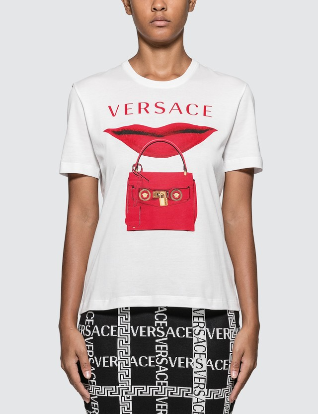 Versace Lip Bag Print T-shirt