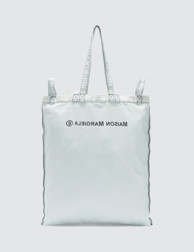MM6 Maison Margiela Logo Denim Tote Bag