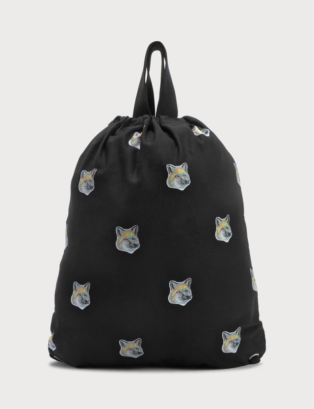 Maison Kitsune All-over Pastel Fox Head Tote Backpack