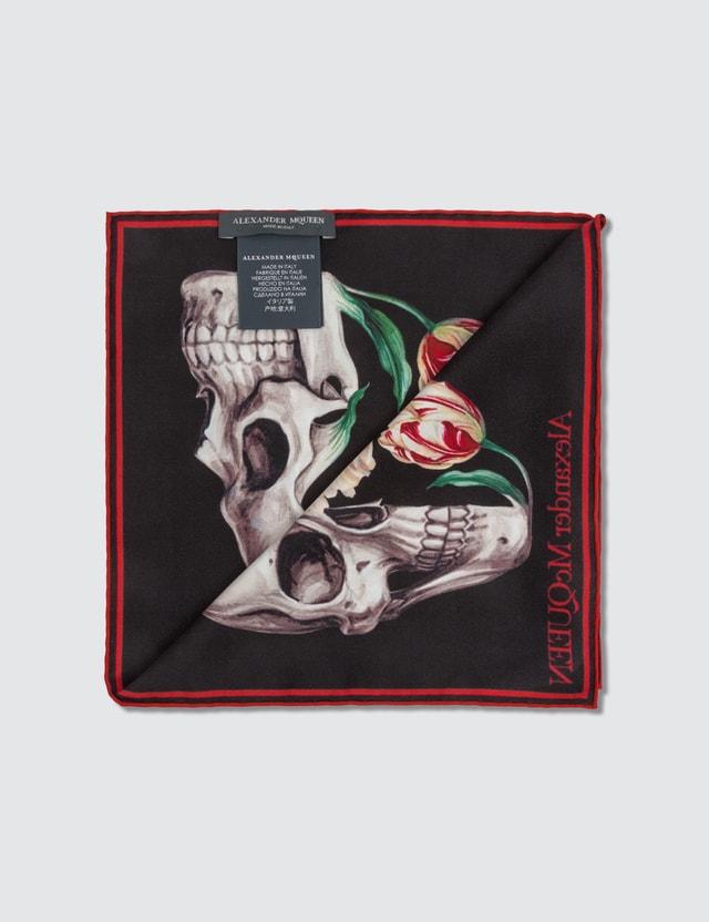 Alexander McQueen Skull Bloom Silk Square Scarf