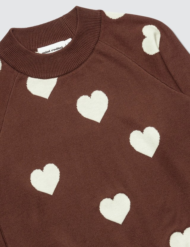 Mini Rodini Knitted Heart Sweater