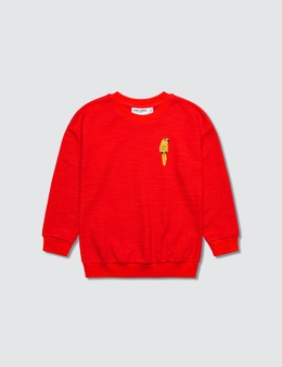 Mini Rodini Parrot Embroidery Sweatshirt
