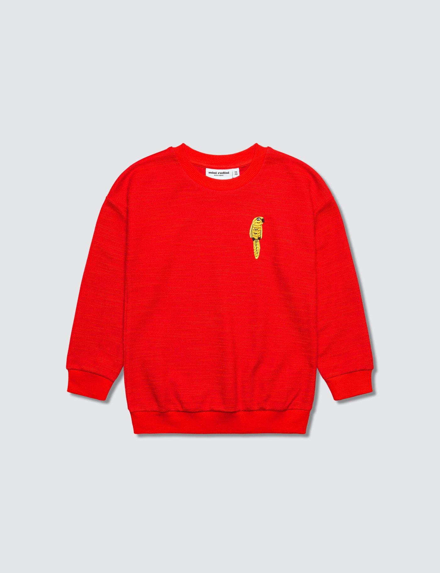 Parrot Embroidery Sweatshirt